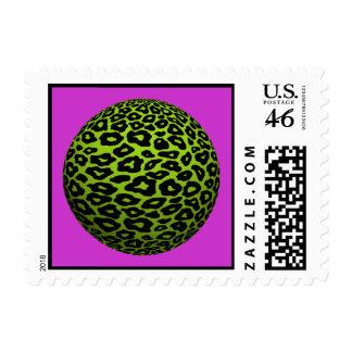 Franqueo de la bola del leopardo