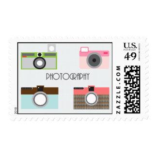 Franqueo de la cámara sello postal