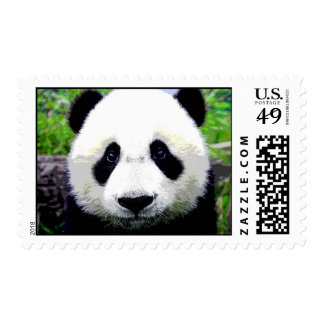 Franqueo de la cara de la panda