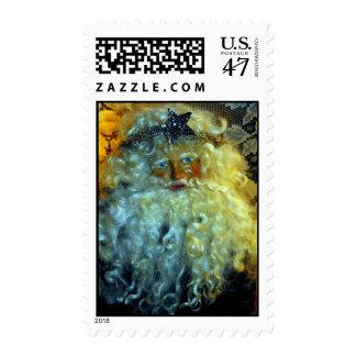 Franqueo de la cara de Santa Timbre Postal