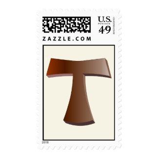 Franqueo de la cruz de Tau Timbre Postal