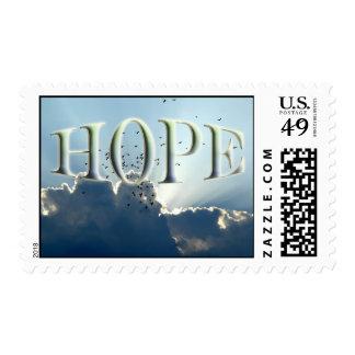 Franqueo de la esperanza timbres postales