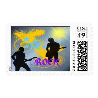 Franqueo de la fantasía de la estrella del rock timbres postales