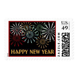 Franqueo de la Feliz Año Nuevo Estampillas