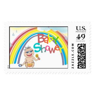 Franqueo de la fiesta de bienvenida al bebé del sellos postales