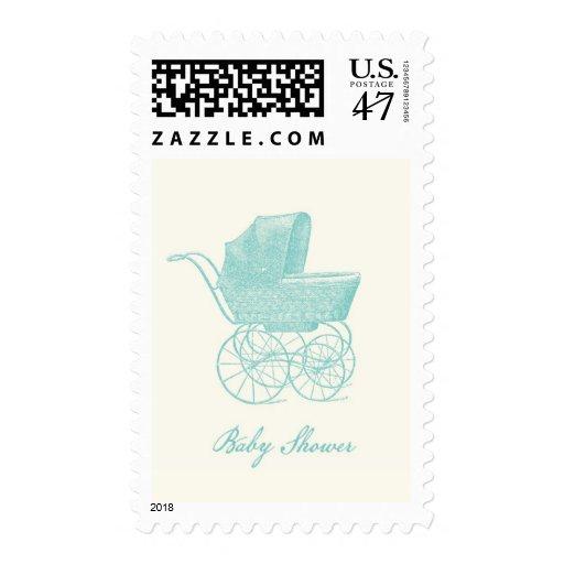 Franqueo de la fiesta de bienvenida al bebé del timbre postal