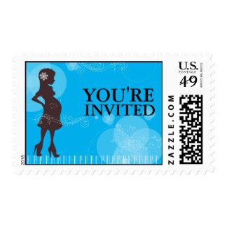 Franqueo de la fiesta de bienvenida al bebé sello postal
