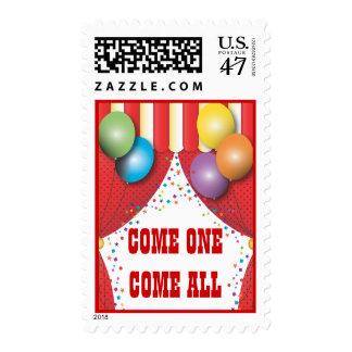 Franqueo de la fiesta de cumpleaños del carnaval sello