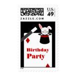 Franqueo de la fiesta de cumpleaños del mago