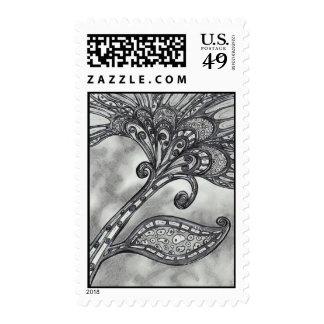 Franqueo de la flor 4 del espacio del carbono sello postal