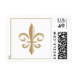 Franqueo de la flor de lis por las invitaciones timbres postales