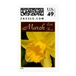 Franqueo de la flor del cumpleaños del narciso - M