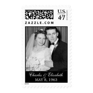 Franqueo de la foto del aniversario de boda sellos