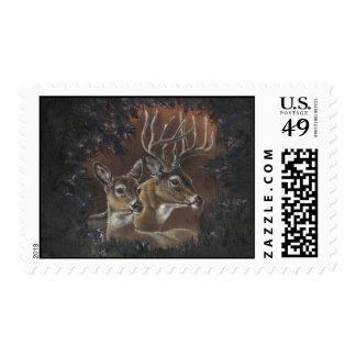 Franqueo de la guirnalda de los ciervos sellos postales