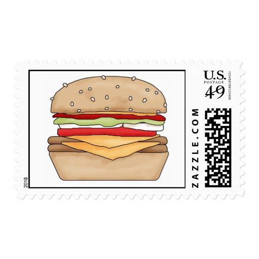 franqueo de la hamburguesa