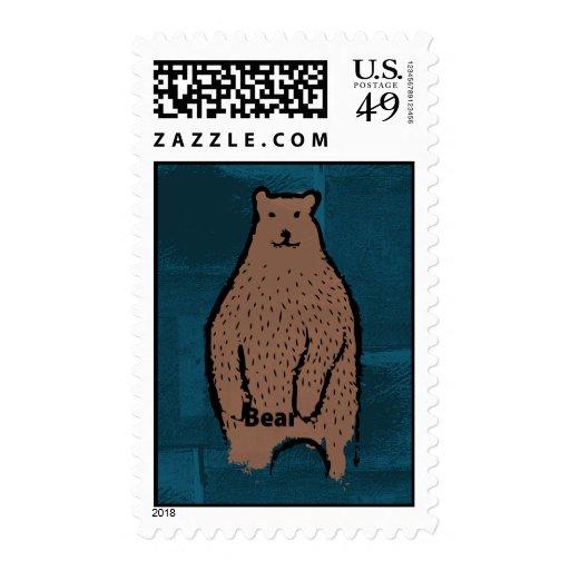 Franqueo de la identidad del oso estampillas