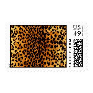 Franqueo de la impresión del guepardo estampilla