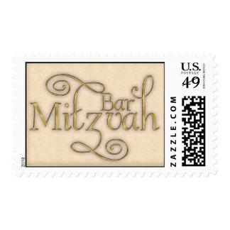 Franqueo de la invitación de Mitzvah de la barra