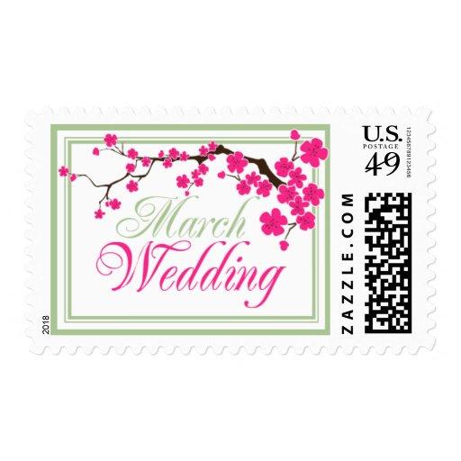 Franqueo de la invitación del boda de marzo