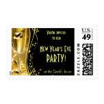 Franqueo de la invitación del fiesta del Año Nuevo