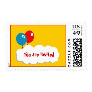 franqueo de la invitación - globos