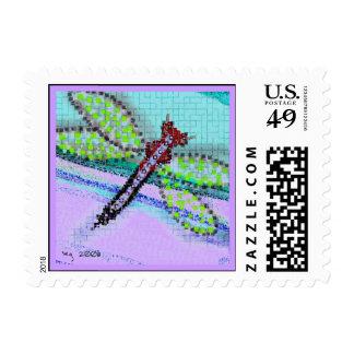 Franqueo de la libélula sello