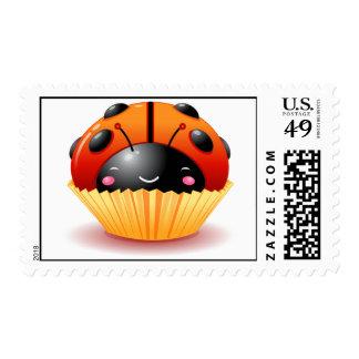 Franqueo de la magdalena de la mariquita timbre postal