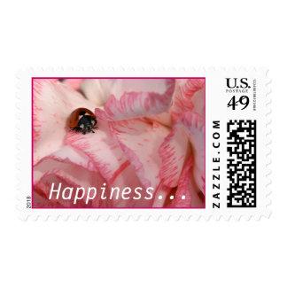 Franqueo de la mariquita sello postal