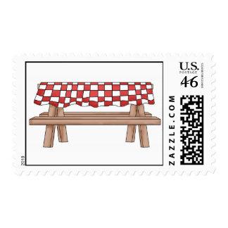 Franqueo de la mesa de picnic