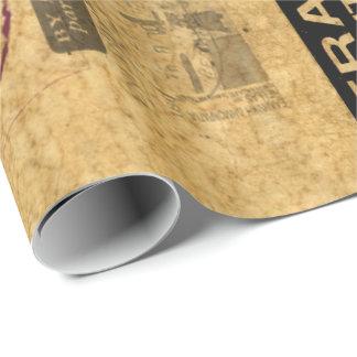 Franqueo de la mirada y papel de embalaje retros papel de regalo