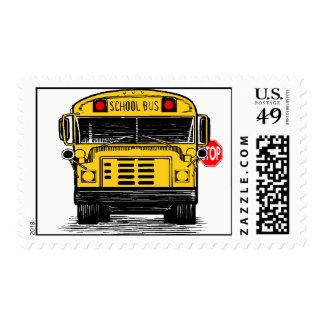 Franqueo de la muestra de la parada de autobús estampillas