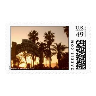 Franqueo de la muestra de Santa Mónica Timbres Postales