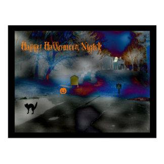 Franqueo de la noche del feliz Halloween Postales