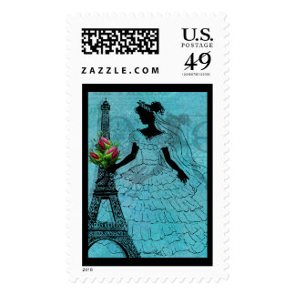 Franqueo de la novia de la torre Eiffel