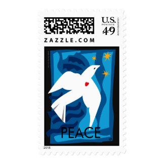 Franqueo de la paloma de la paz