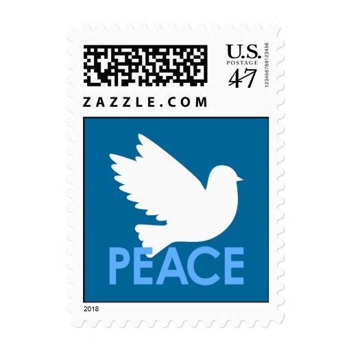 Franqueo de la paloma de la paz timbre postal