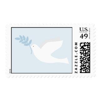 Franqueo de la paloma del azul