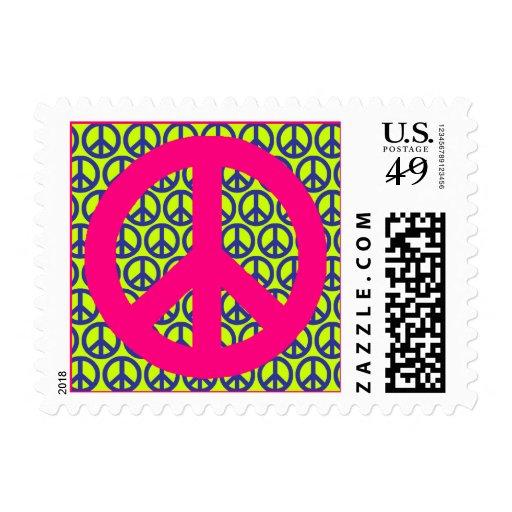 Franqueo de la paz timbre postal