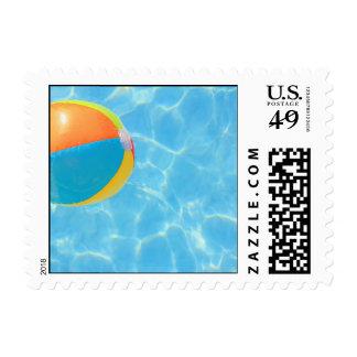 Franqueo de la pelota de playa sellos postales