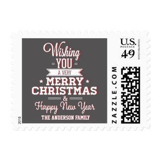 Franqueo de la pizarra de las Felices Navidad Timbres Postales