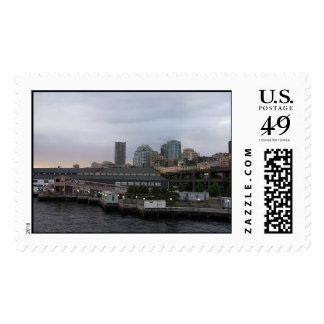 Franqueo de la postal de Seattle
