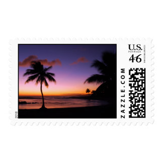 Franqueo de la puesta del sol de Kauai Hawaii
