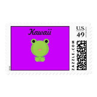 Franqueo de la rana de Kawaii