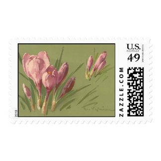 Franqueo de la reproducción del vintage de sellos postales