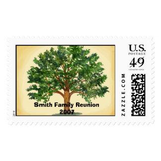 Franqueo de la reunión de familia sello postal