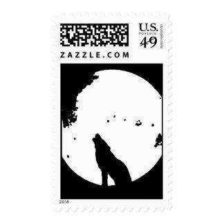 Franqueo de la silueta del lobo y de la luna
