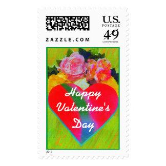 Franqueo de la tarjeta del día de San Valentín del