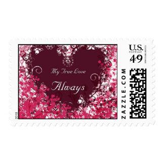 Franqueo de la tarjeta del día de San Valentín Timbre Postal