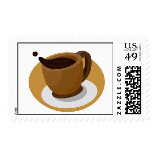Franqueo de la taza de café