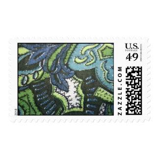 Franqueo de la tela del diseño de Paisley del vint